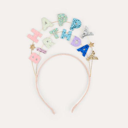 Multi Meri Meri Happy Birthday Glitter Headband