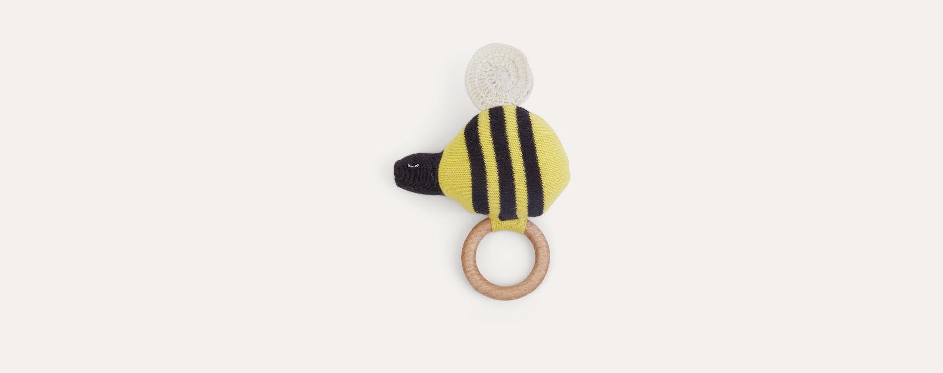 Yellow Meri Meri Bumble Bee Rattle