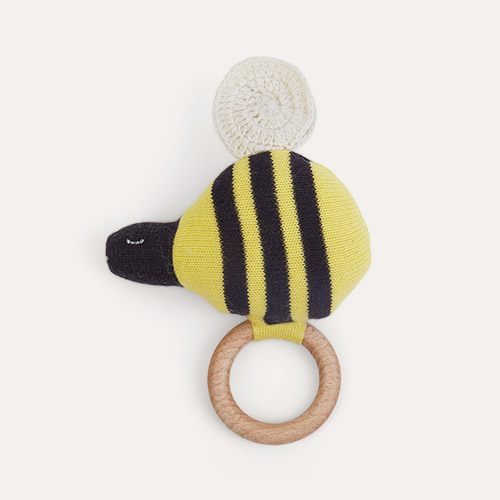 Yellow Meri Meri Bumble Bee Rattle