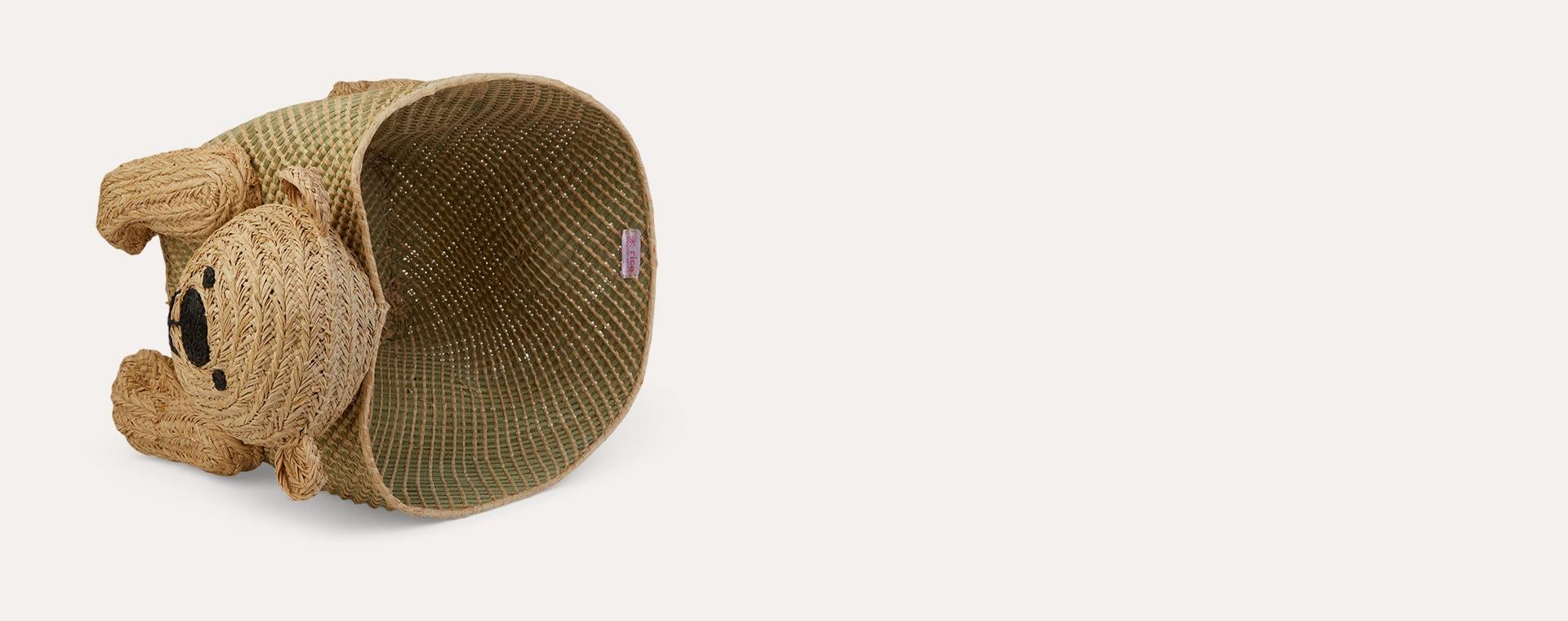 Neutral Rice Bear Storage Basket