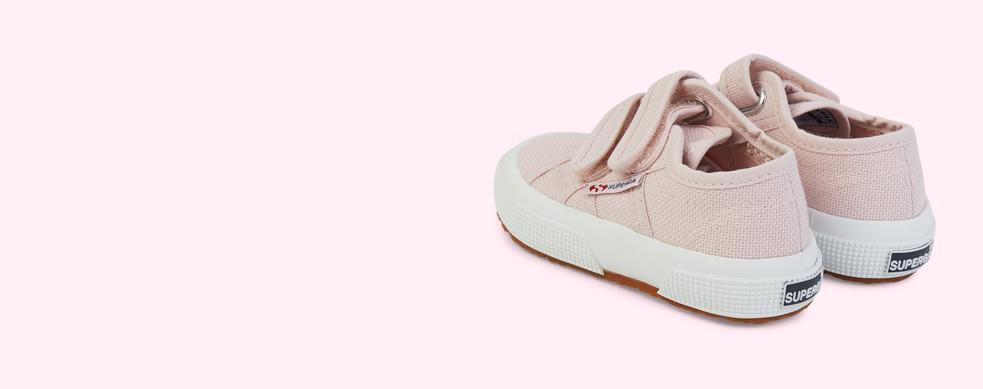 Pink Pale Lilac Superga JStrap Classic Kids