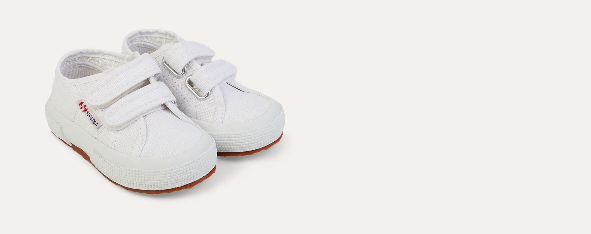 White Superga JStrap Classic Kids