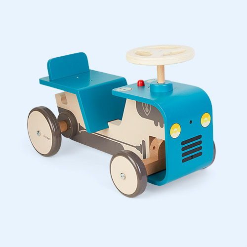 Blue Janod Ride On Tractor