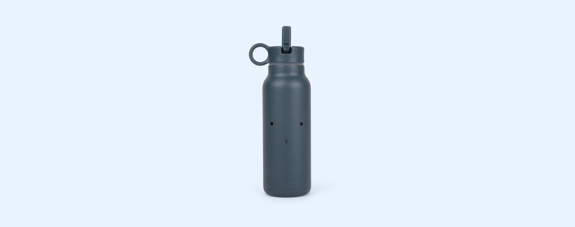 Rabbit Whale Blue Liewood Falk Water Bottle