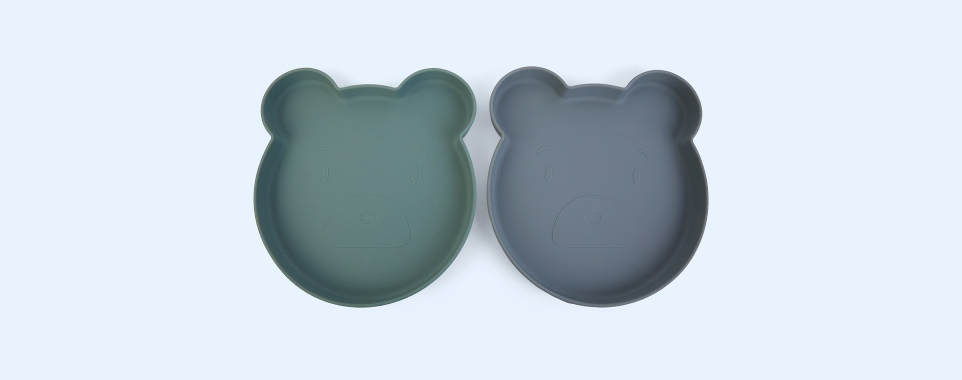 Mr Bear Blue Mix Liewood 2-Pack Marty Plate