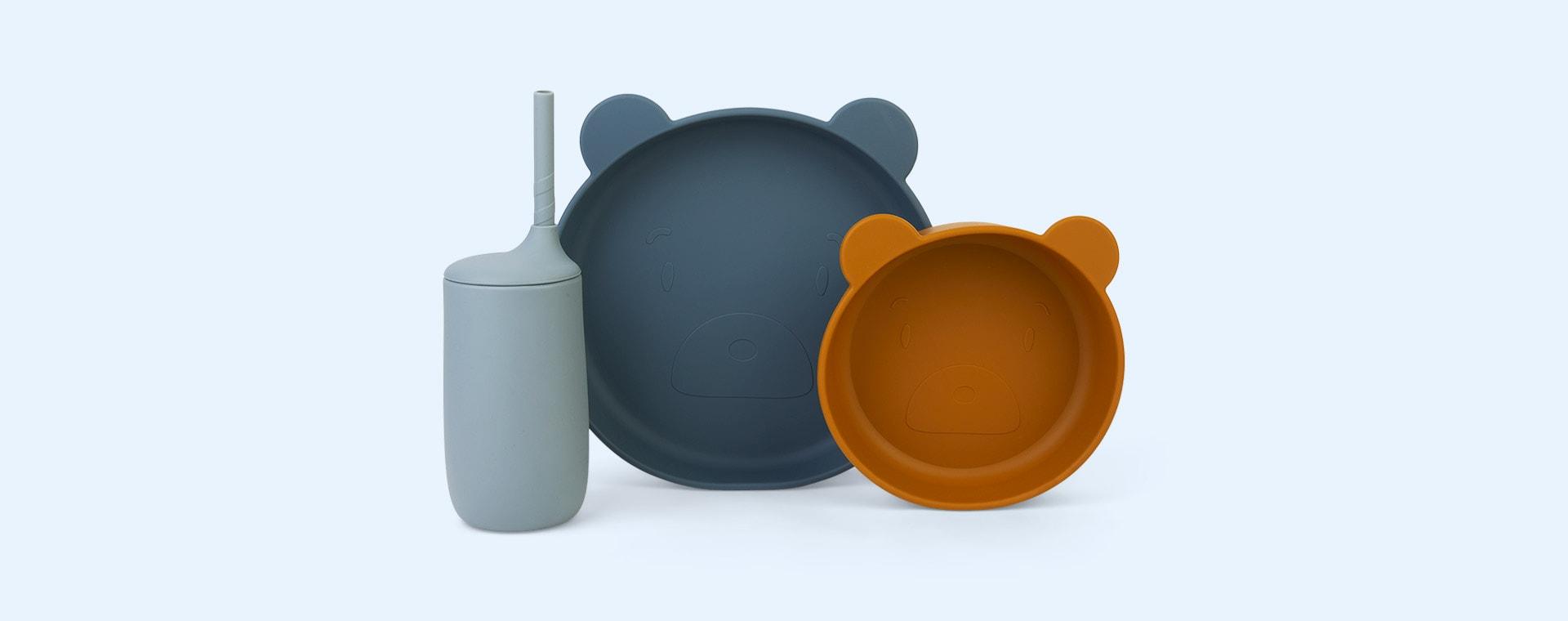 Mr Bear Blue Multi Mix Liewood Nathan Junior Dining Set
