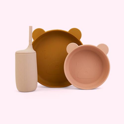 Mr Bear Rose Multi Mix Liewood Nathan Junior Dining Set