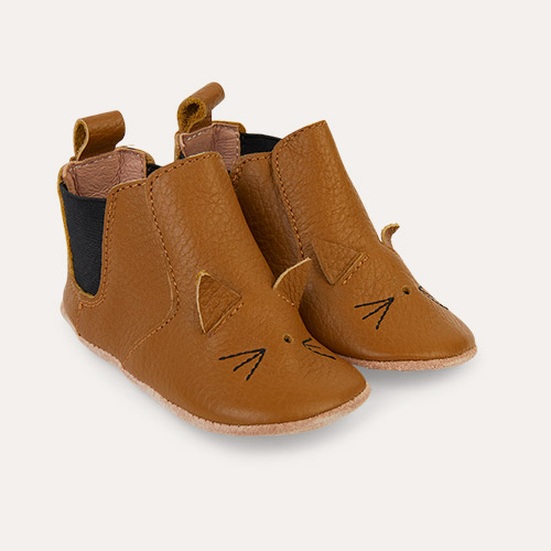 Cat Golden Caramel Liewood Edith Leather Slippers