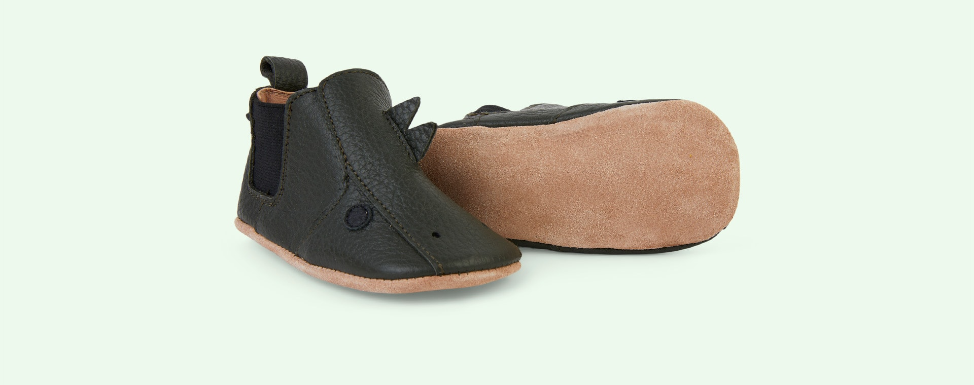 Dino Hunter Green Liewood Edith Leather Slippers