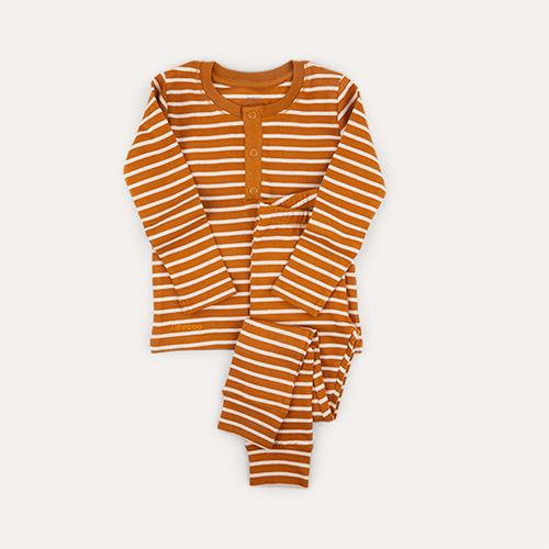Stripe: Golden Caramel/Sandy Liewood Wilhelm Pyjamas Set