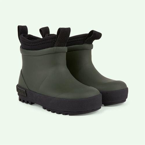 Hunter Green/Black Mix Liewood Ruby Hybrid Boot