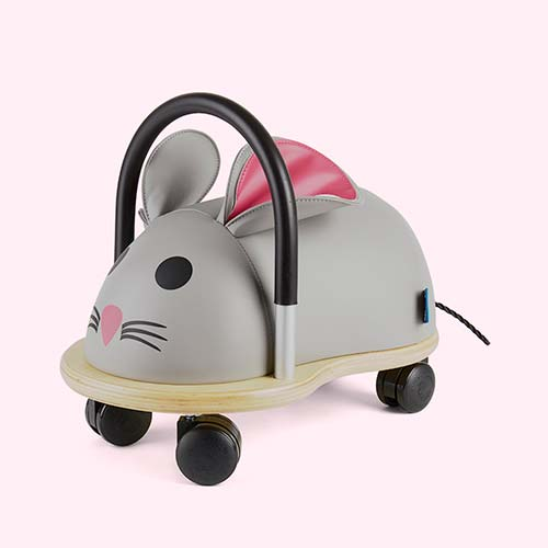 Grey Wheely Bug Small Mouse Ride-on