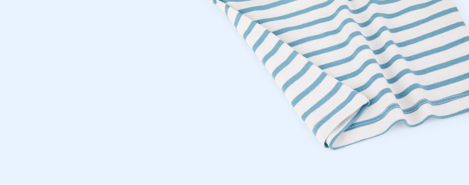 Blue Dotty Dungarees Breton Stripe Top