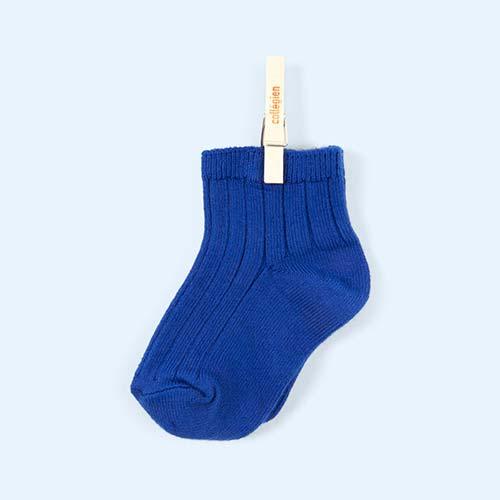 Bleu Eclatant Collegien Ankle socks