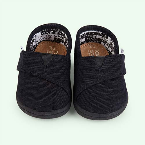 Black Toms Original Classic Canvas Plimsolls