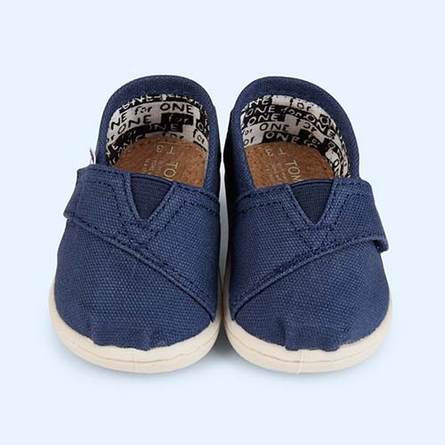Navy Toms Original Classic Canvas Plimsolls
