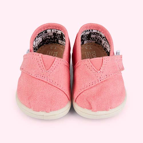 Pink TOMS Classic Canvas Plimsolls