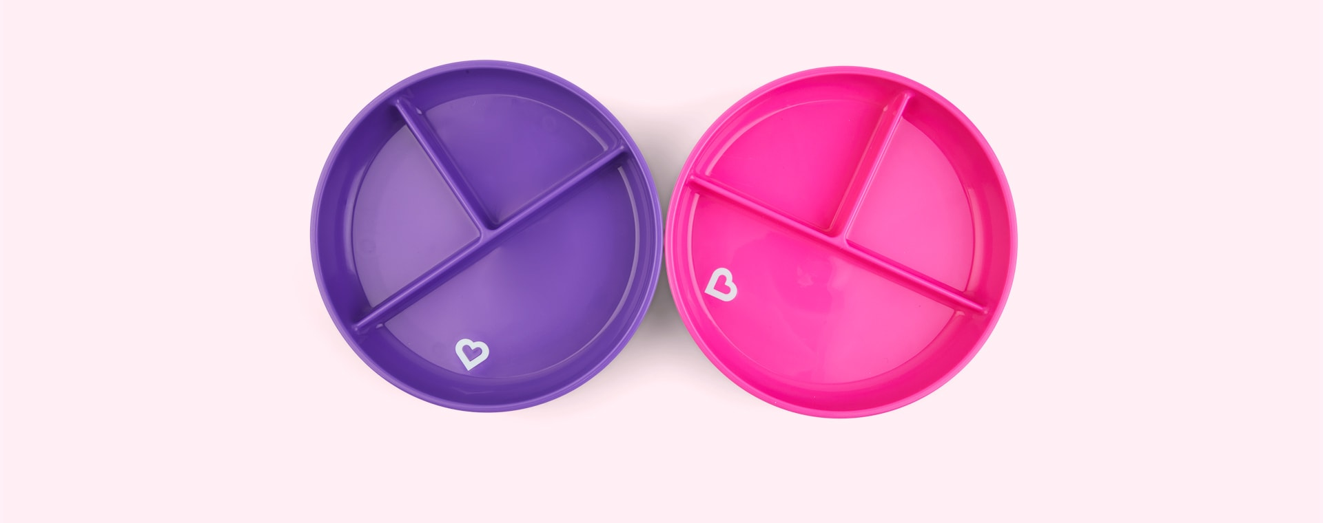 Pink/Purple Munchkin 2-Pack Suction Plates