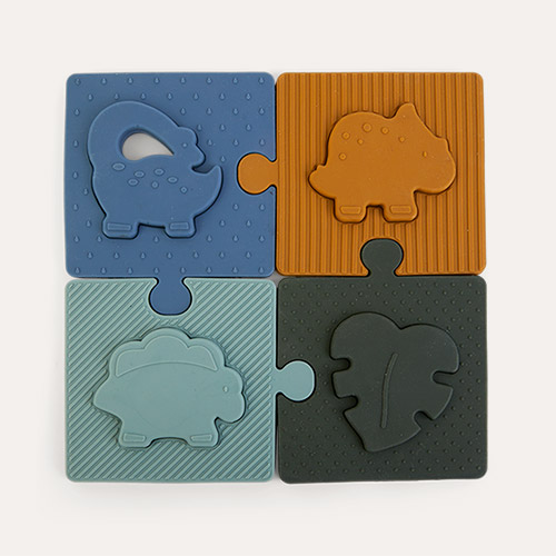 Dino Blue Multi Mix Liewood Bodil Puzzle