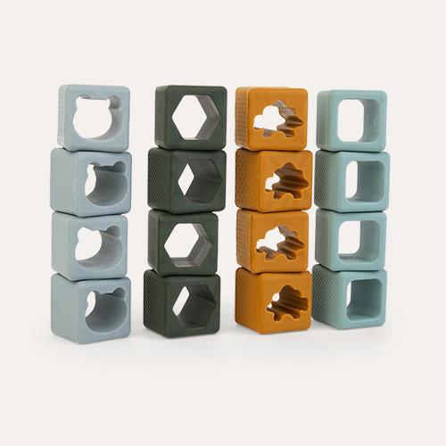 Green Multi Mix Liewood 16-pack Loren Building Blocks