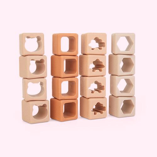 Rose Multi Mix Liewood 16-pack Loren Building Blocks