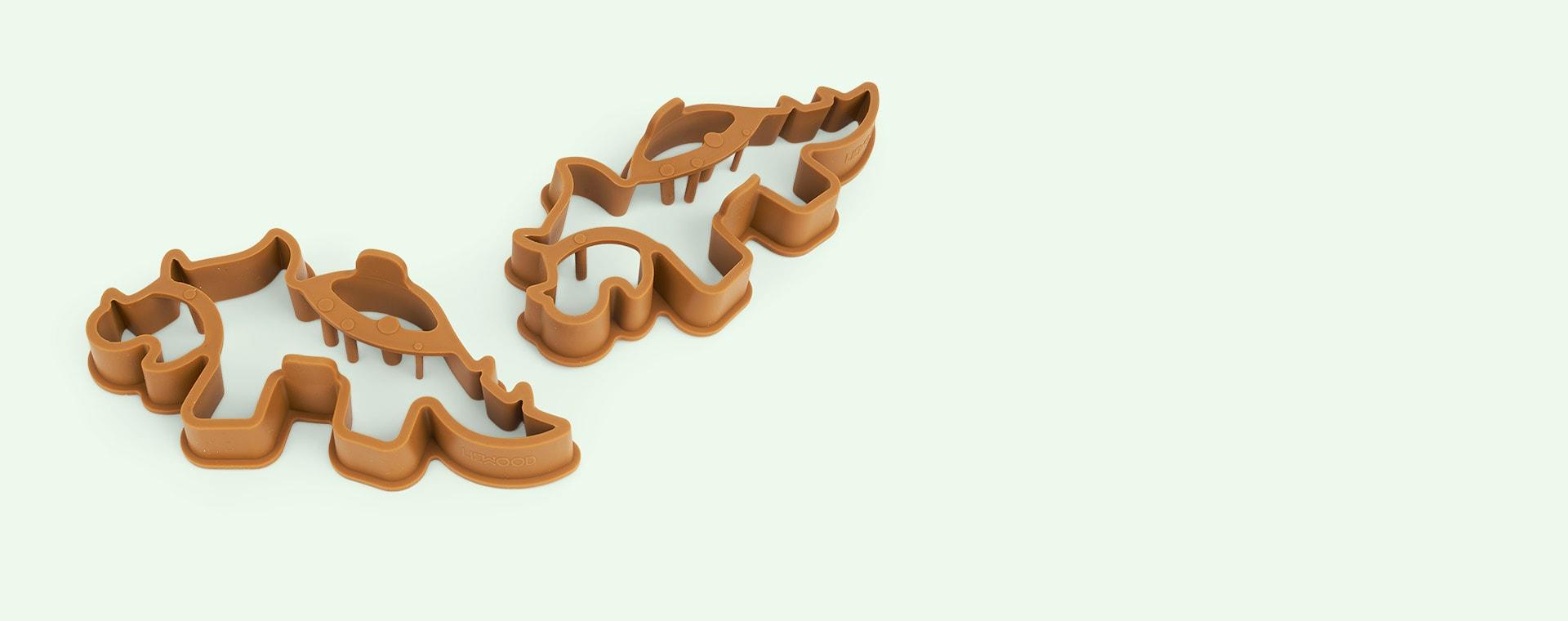 Dino Golden Caramel/Multi Mix Liewood Karina Pancake Shape Set