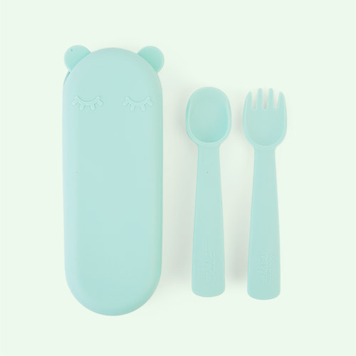 Mint We Might Be Tiny Feedie Fork & Spoon set