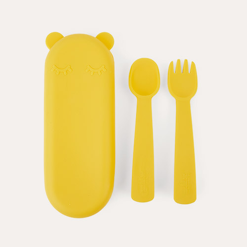 Yellow We Might Be Tiny Feedie Fork & Spoon set