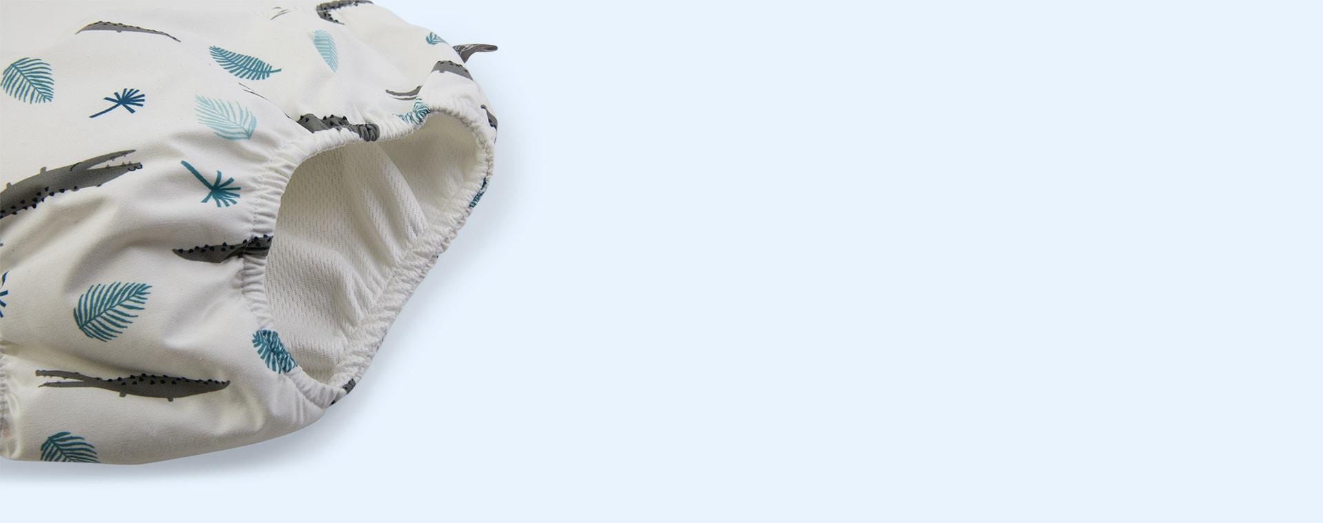 Crocodile White Lassig Swim Nappy