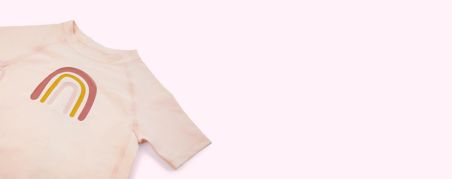 Rainbow Rose Lassig Short Sleeve Rashguard