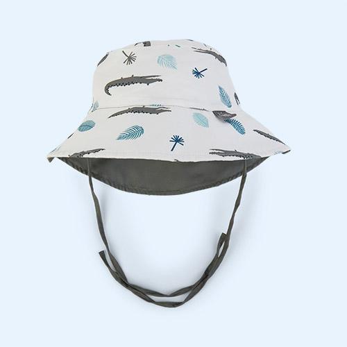 Crocodile White Lassig Bucket Hat
