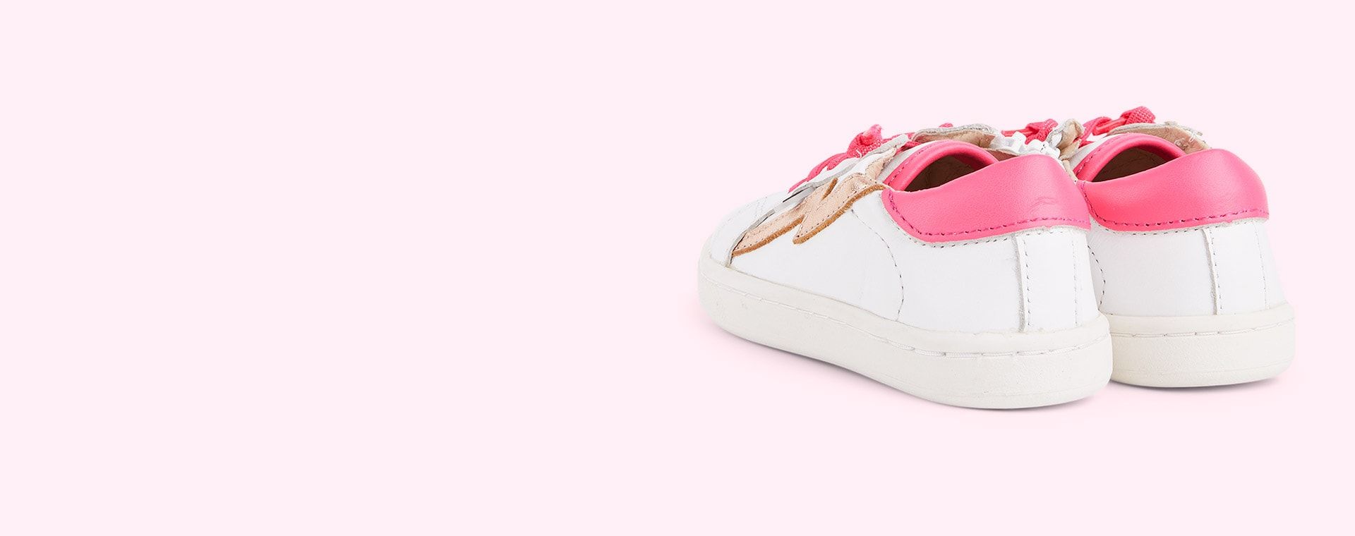 Snow / Neon Pink / Copper old soles Bolty Runner
