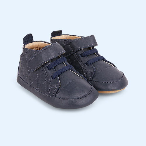 Navy old soles Quilt Bambini