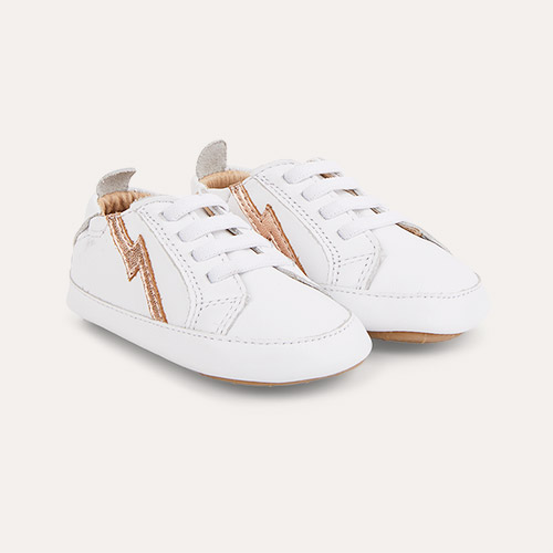 Snow / Copper old soles Bolty Baby Sneakers