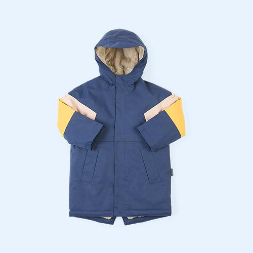 True Blue Multi GOSOAKY Desert Fox Coat