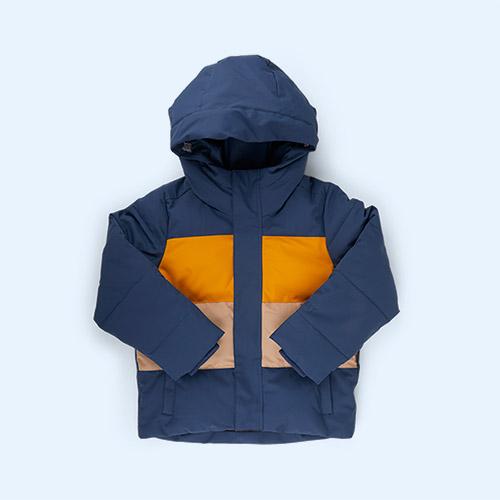 True Blue/Golden Yellow/Warm Sand GOSOAKY Dragon Eye Coat
