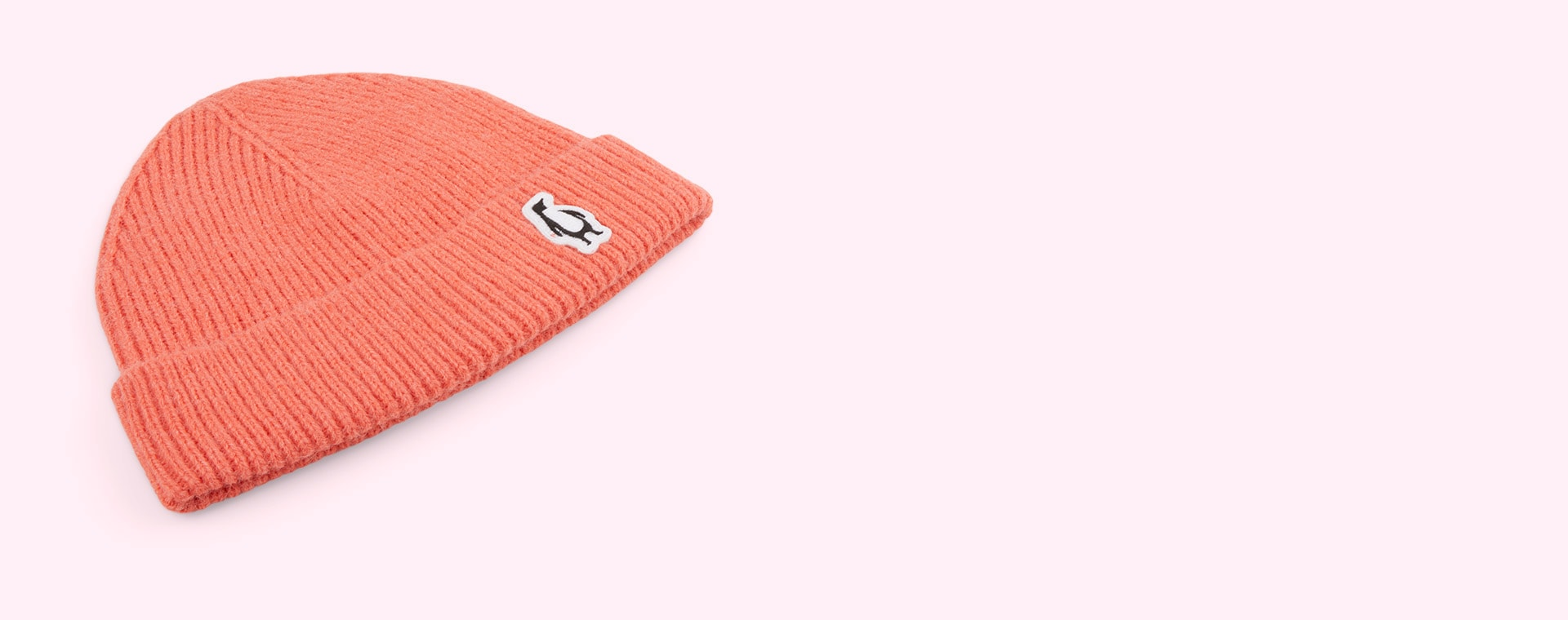 Persimmon Pink GOSOAKY Red Dragon Penguin Badge Hat