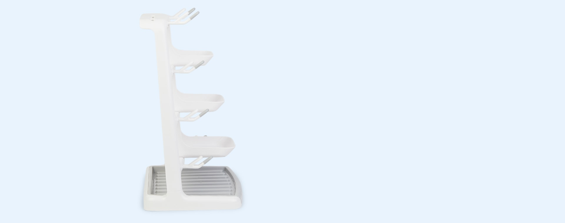 White and Grey Munchkin Space Saving Drying Rack