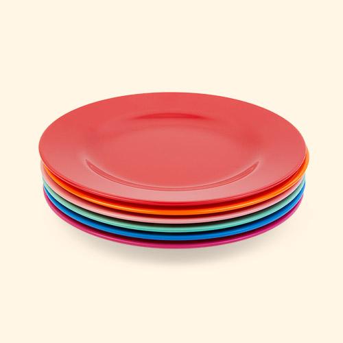 Choose Happy Rice 6-Pack Melamine Plates