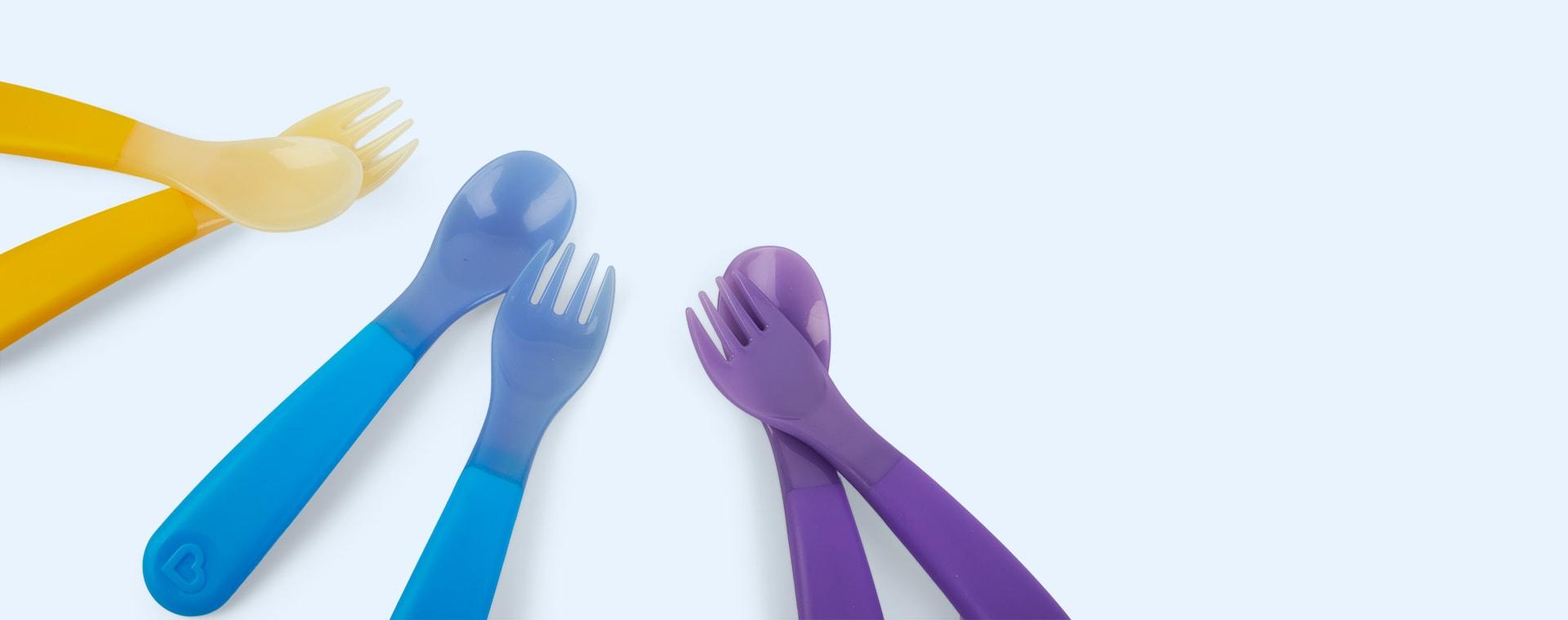 Multi Munchkin 6-Pack Colour Changing Toddler Utensils