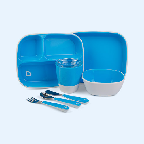 Blue Munchkin Colour Me Hungry Dining Set