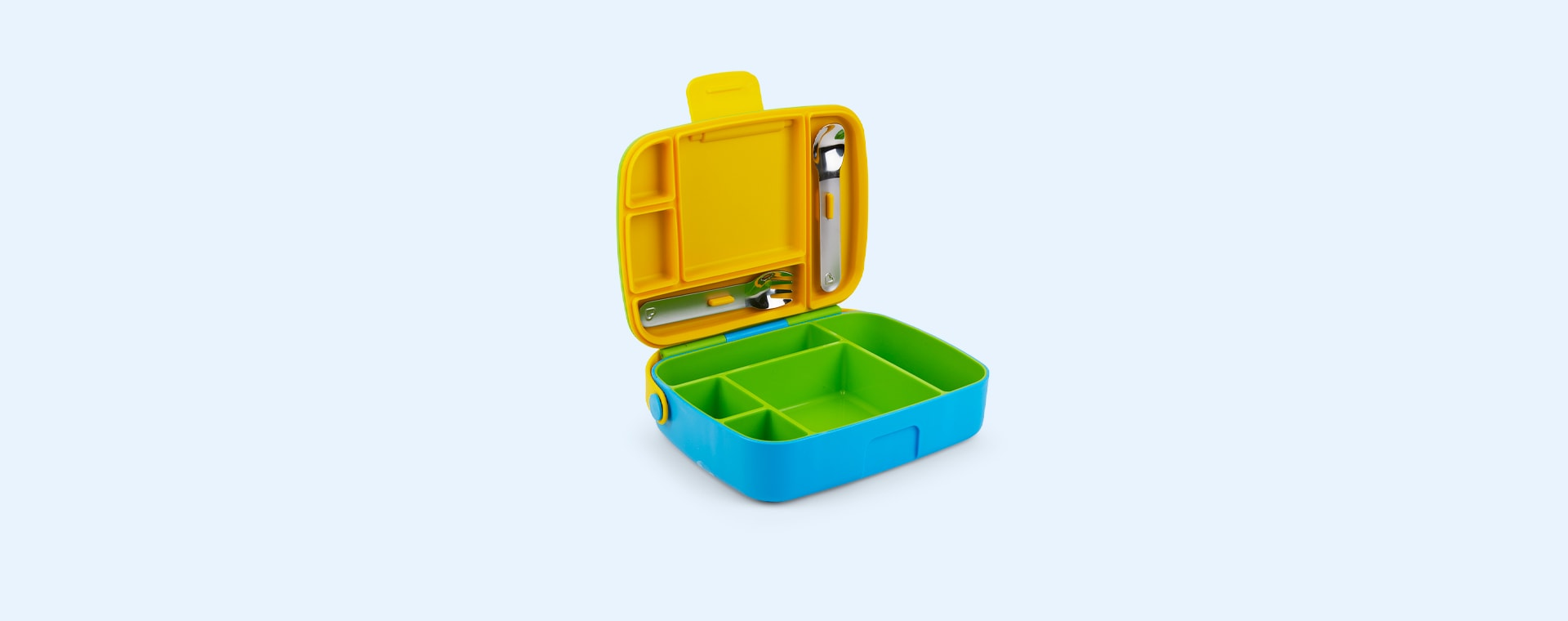 Yellow and Blue Munchkin Lunch Bento Box