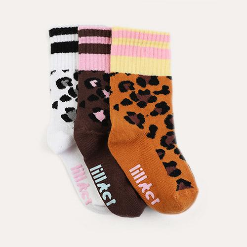 Leopard Lillster 3-Pack Socks