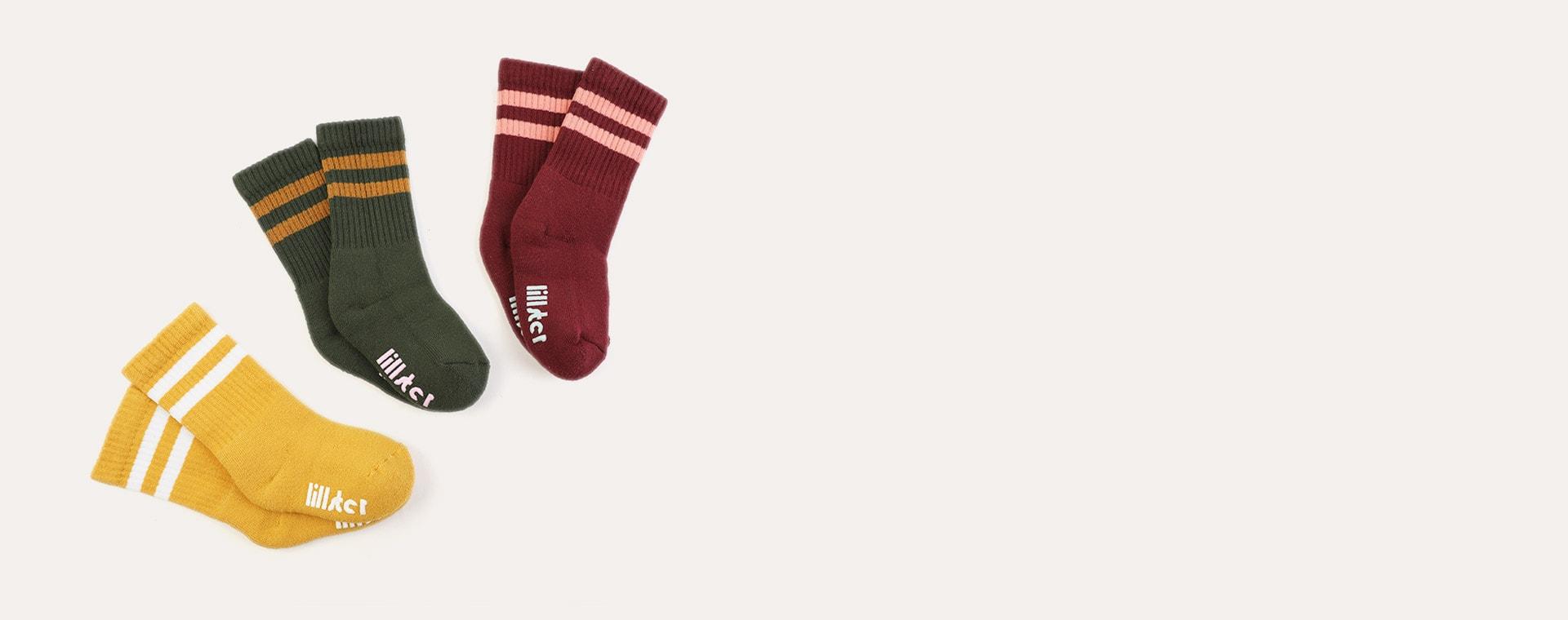Two Tone Lillster 3-Pack Socks