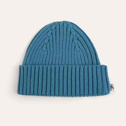 Teal KIDLY Label Organic Cotton Beanie