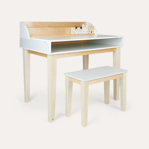 White Tender Leaf Toys Desk and Chair