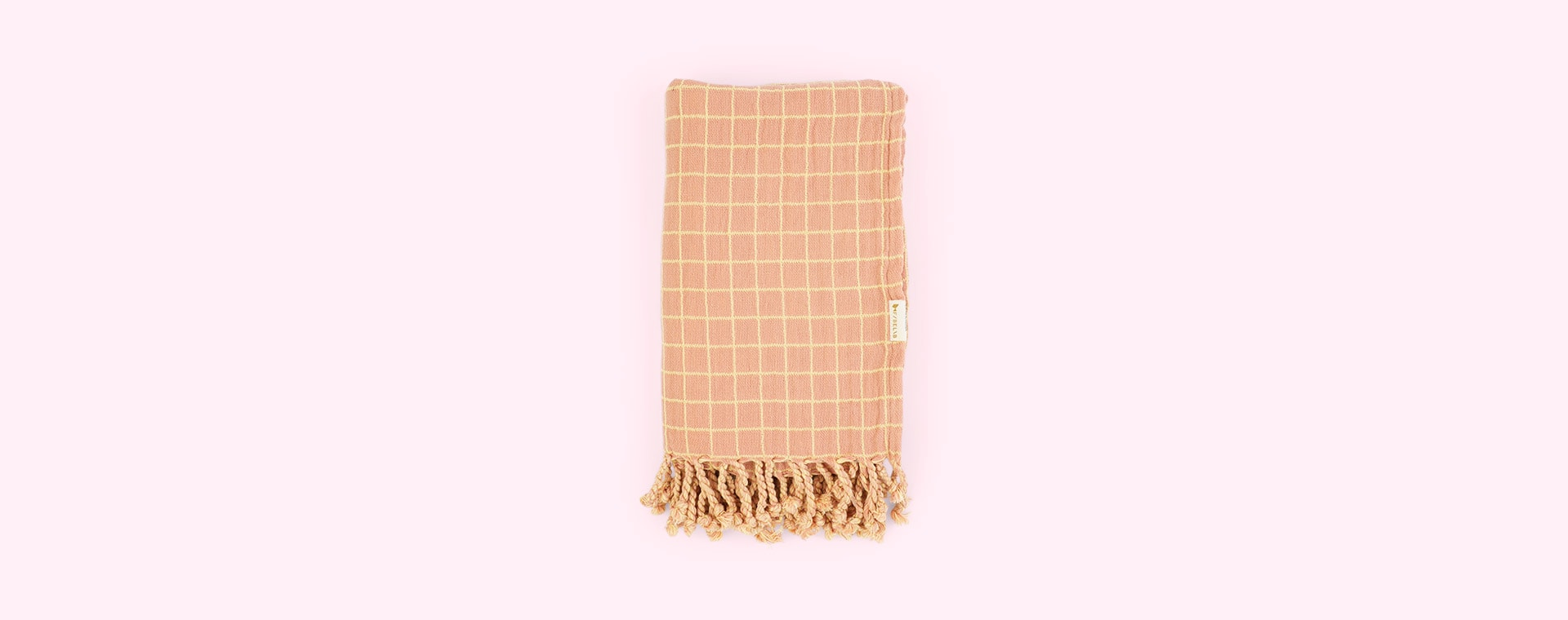 Grid Old Rose Fabelab Throw Blanket
