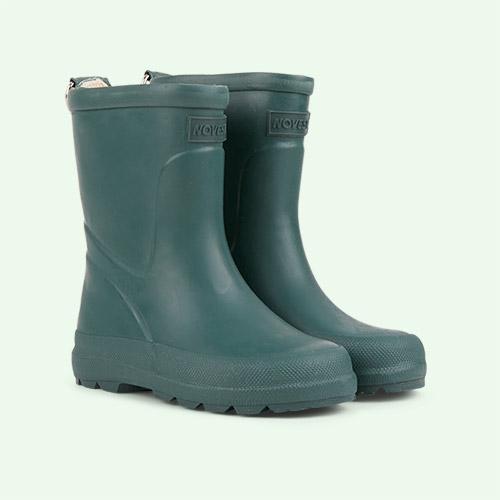 Dark Green Novesta Kids Rubber Boots