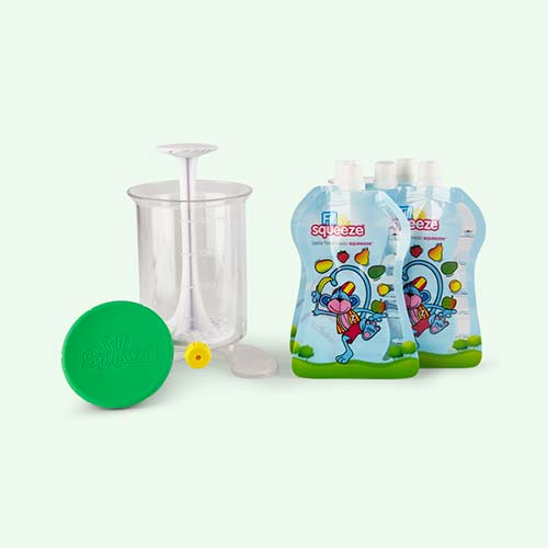 White Fill n Squeeze Weaning Pouch Starter Pack