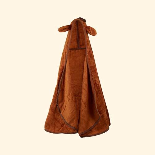 Brown Cuddledry Cuddlepony Hooded Bath Towel